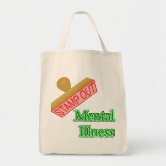 Verde de la enfermedad mental bolsas de mano