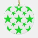 Verde de la estrella 2 adorno