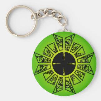 Verde de la estrella del Lament Llavero Redondo Tipo Pin
