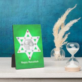 Verde de la estrella y de los copos de nieve de Já Placas De Madera