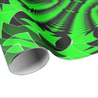 Verde de la explosión de la música papel de regalo