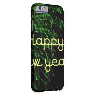 verde de la Feliz Año Nuevo Funda De iPhone 6 Barely There