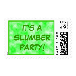 Verde de la fiesta de pijamas envio