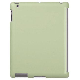 Verde de la flor de lis para el boda francés del funda para iPad