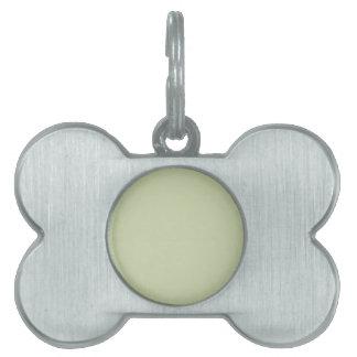 Verde de la flor de lis para el boda francés del placas de mascota
