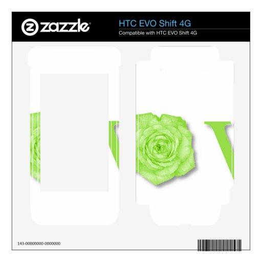 Verde de la flor del amor HTC EVO shift 4G skin