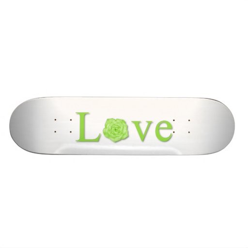 Verde de la flor del amor patinetas personalizadas