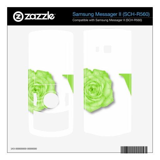 Verde de la flor del amor samsung messager II skins