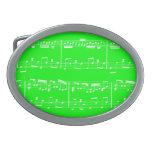 Verde de la hebilla del cinturón de la partitura hebillas de cinturon ovales