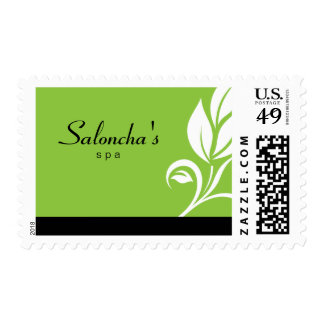 Verde de la hoja del sello de Salon Spa Company
