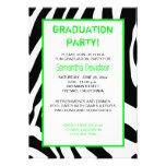 Verde de la invitación de la fiesta de graduación