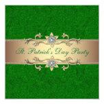 Verde de la invitación del fiesta del día de St