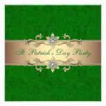 Verde de la invitación del fiesta del día de St Pa