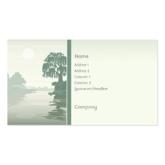 Verde de la isla plantilla de tarjeta de visita