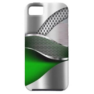 Verde de la malla de la plata metalizada del coche funda para iPhone SE/5/5s