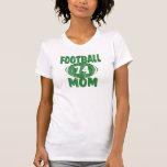 Verde de la mamá del fútbol camiseta