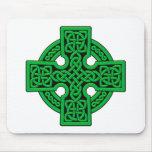 Verde de la manera del Celtic 4 Tapetes De Raton