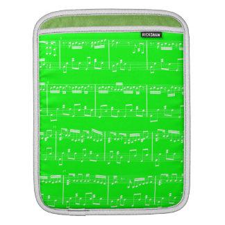 Verde de la manga del iPad de la partitura Mangas De iPad
