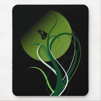 Verde de la mariposa alfombrilla de ratón