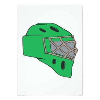"""Verde de la máscara del portero invitación 5"""" x 7"""""""