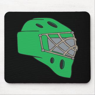 Verde de la máscara del portero mouse pads