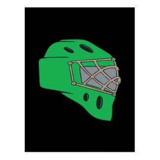 Verde de la máscara del portero tarjetas postales
