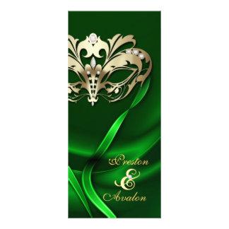 Verde de la mascarada del oro Jeweled casando prog Plantillas De Lonas