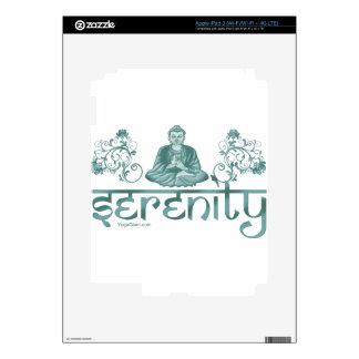 verde de la meditación de la serenidad iPad 3 pegatinas skins