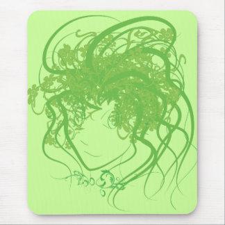 Verde de la medusa de la hiedra tapetes de ratones