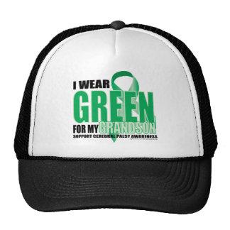 Verde de la parálisis cerebral para el nieto gorra