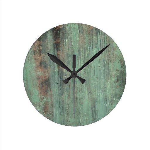 Verde de la pátina reloj de pared