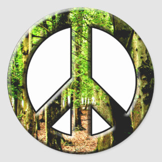 Verde de la paz pegatina redonda