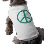 verde de la paz ropa perro