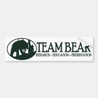 Verde de la pegatina para el parachoques del oso d etiqueta de parachoque