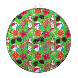 Verde de la pelota de playa de las gafas de sol de tablero de dardos