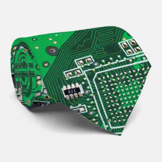 Verde de la placa de circuito del friki del corbata personalizada