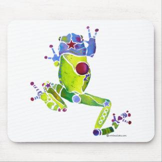 Verde de la primavera de la rana mousepad