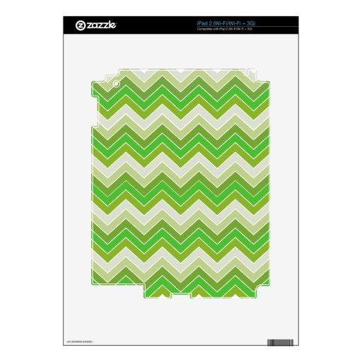 Verde de la primavera {modelo del galón} iPad 2 calcomanía