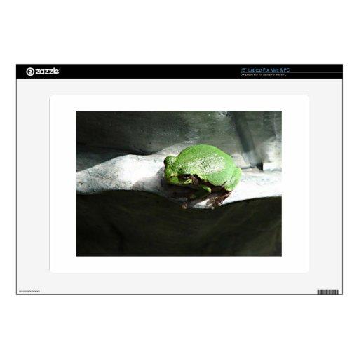 Verde de la rana calcomanía para 38,1cm portátil