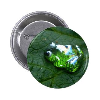 Verde de la rana pin redondo de 2 pulgadas