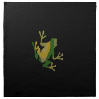 verde de la rana servilleta imprimida