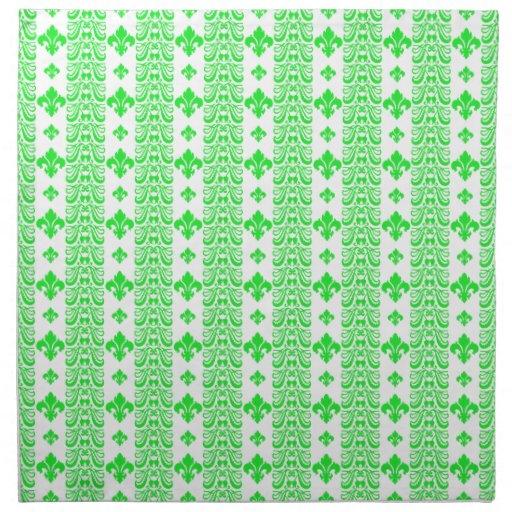 Verde de la raya 1 de Fleur Servilletas De Papel
