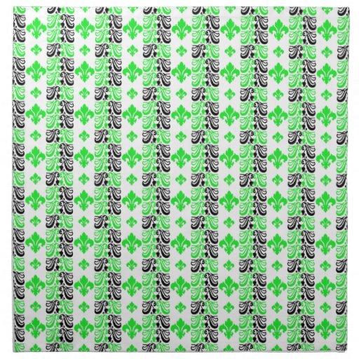 Verde de la raya 1a de Fleur Servilleta