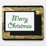 Verde de la seda del navidad alfombrilla de ratones