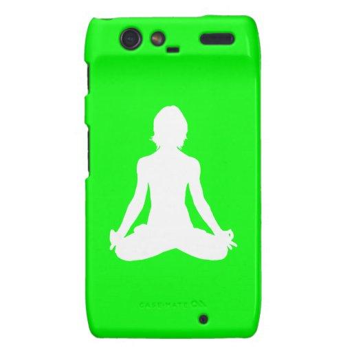 Verde de la silueta de la yoga de la casamata de D Motorola Droid RAZR Carcasas