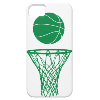 verde de la silueta del baloncesto del iPhone 5 en iPhone 5 Cárcasa