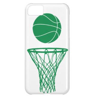 verde de la silueta del baloncesto del iPhone 5 en