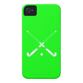 verde de la silueta del hockey hierba del iPhone 4 Case-Mate iPhone 4 Cárcasa