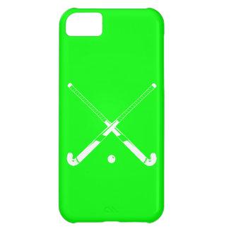 verde de la silueta del hockey hierba del iPhone 5