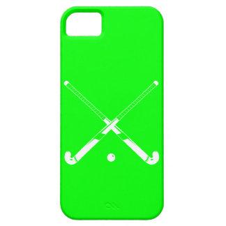 verde de la silueta del hockey hierba del iPhone 5 iPhone 5 Case-Mate Protector